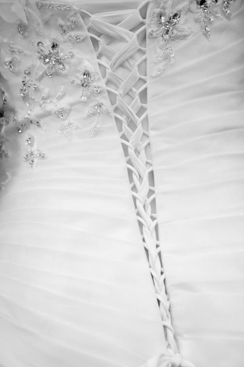A wonderful detail of the bride's dress.